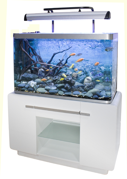 aquarium osaka 320 laqu blanc aquarium animalerie. Black Bedroom Furniture Sets. Home Design Ideas