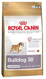 Croquettes Royal Canin Bulldog Anglais Junior 30